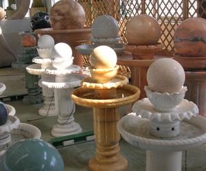 Fuentes de mármol pulido