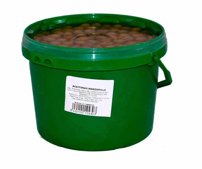 Aceitunas Manzanilla  Cubo de 3 Kgs. Marca ELOVI