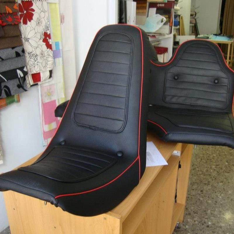 Tapizado de asientos de moto y automóvil: Servicios de Zahonero Tapissería