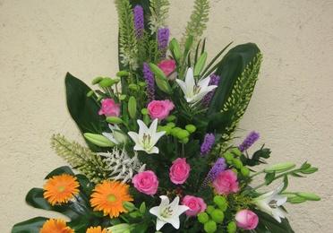 Centro a una cara de flor variada