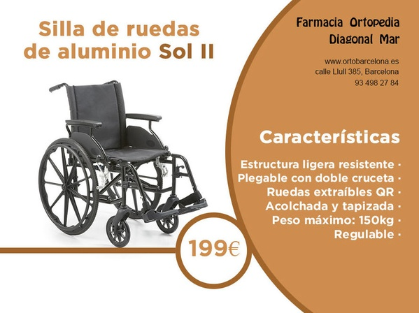 Silla ruedas aluminio Sol II