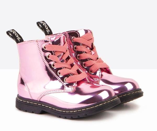 Botas CONGUITOS niña espejo rosa