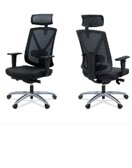 sillón ergonómico  de oficina miro-03 con cabezal y brazos regulables
