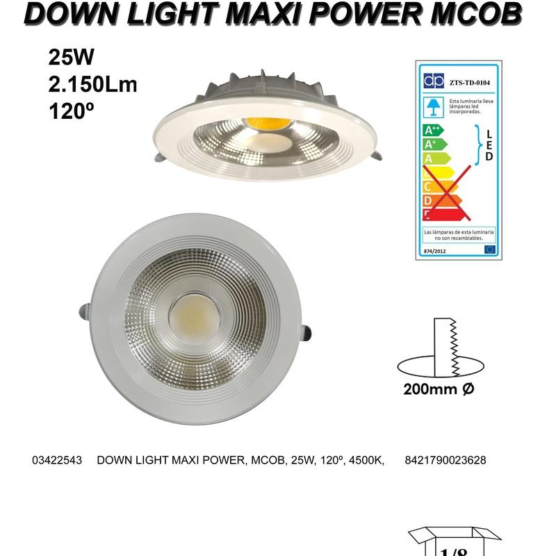 DOWNLIGHT LED REDONDO 25W 2150LM BLANCO