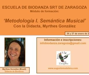 Metodología I 'Semántica Musical', con Myrthes González. 26 y 27 enero 2019