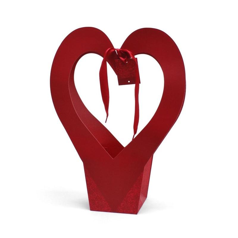 "BOLSA DE CARTULINA MODELO ""Romance"" (31x14x42cm)/ ROJO REF:H20155 PRECIO: 1,50€"