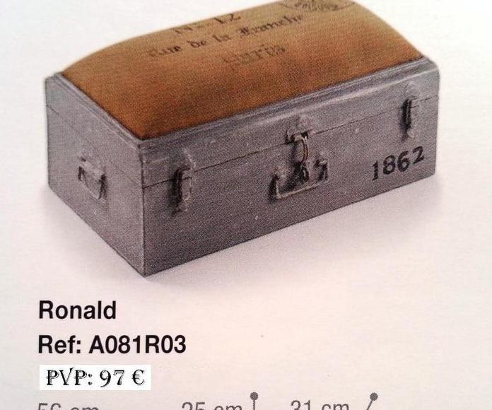 Colección Back in time - Baúl rectangular acolchado