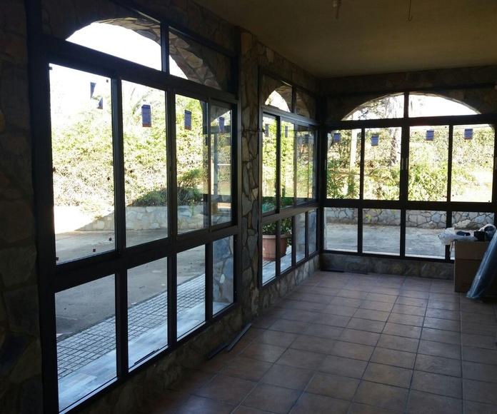 cerramiento de porche chalet aluminios gamero