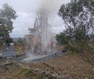 Instalación de pozos de agua
