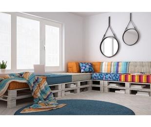 Muebles con palets para todas las estancias de tu casa