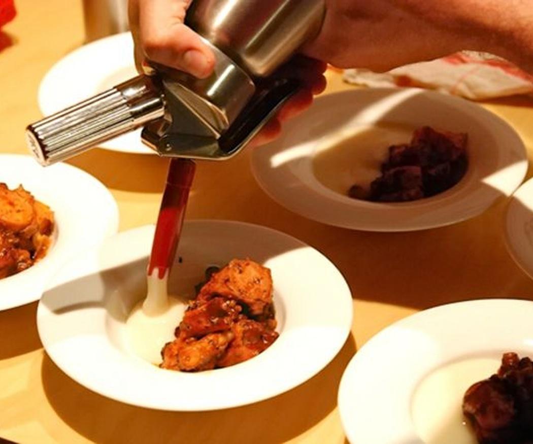 El uso de espumas con sifón en cocina creativa