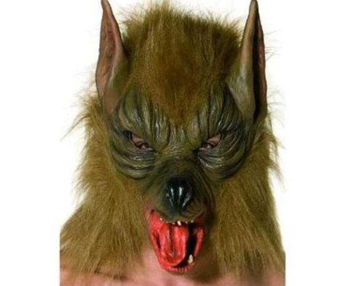 Máscara lobo marrón