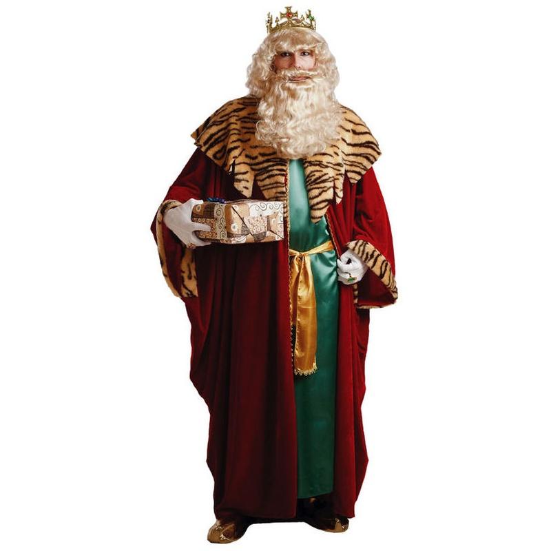 Disfraz rey mago rojo lujo