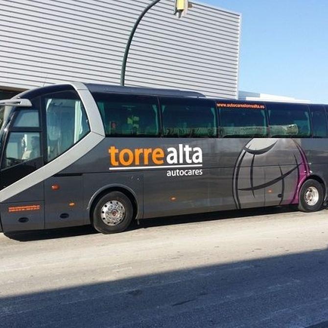 ¿Qué requisitos deben cumplir los autobuses para el transporte escolar?