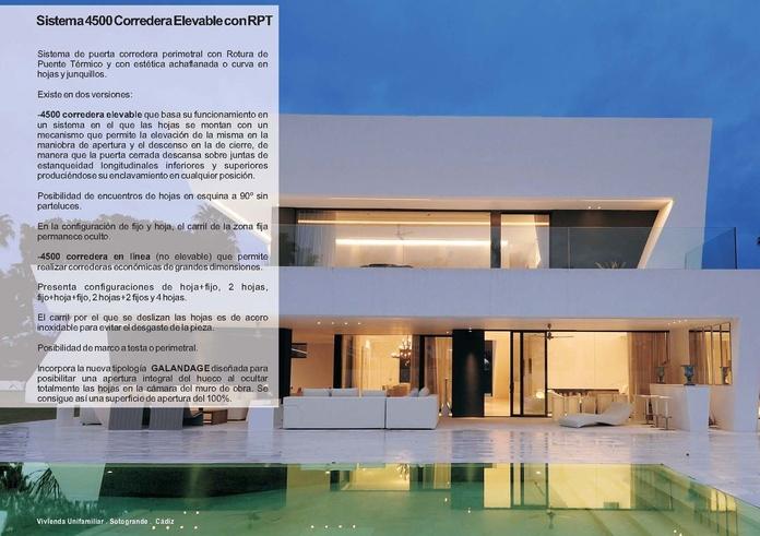 4500 Corredera Elevable RPT: Catálogo de Jgmaluminio