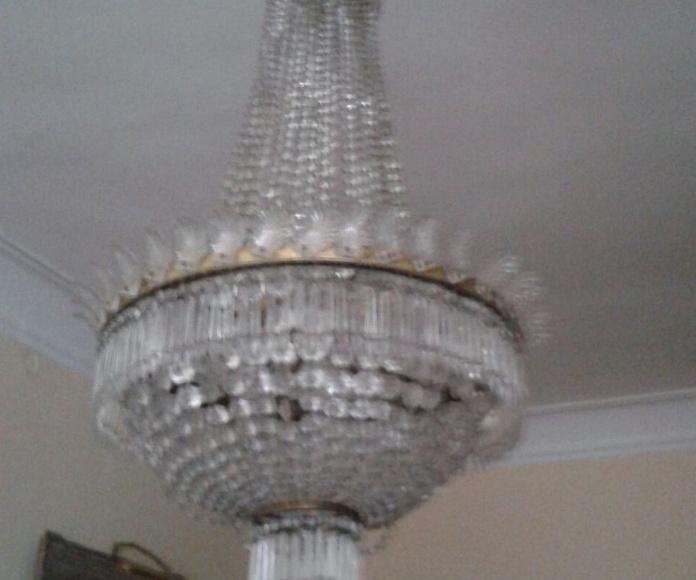Lámpara estilo Imperio. Su mejor momento: Catálogo de Restauración de Lámparas y Arañas