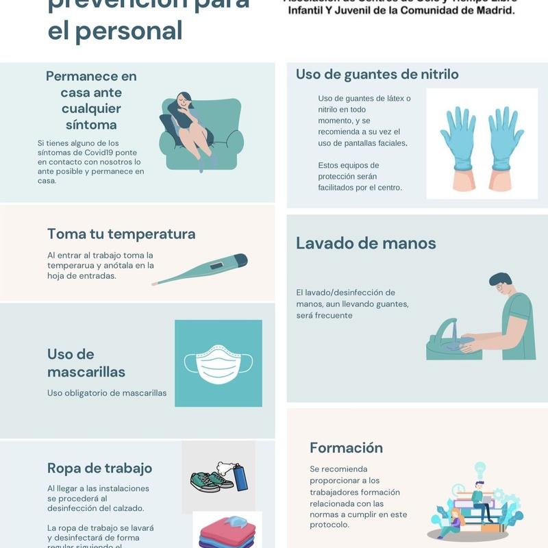 Protocolo de higiene y prevención para el personal