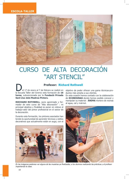 """Curso de alta decoración  """"Art stencil"""": Trabajos de Decolors Style"""