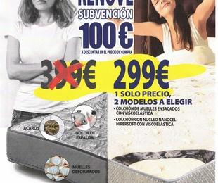 """AQUÍ COLCHÓN PLAN """"RENOVE"""" SUBVENCIÓN DE 100 €"""