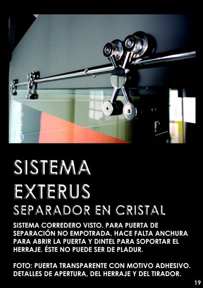 Puerta separador en cristal EXTERUS