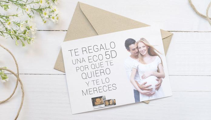 tarjeta personalizada ecografía 5D