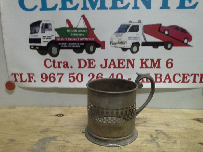 Jarra de laton en Desguaces Clemente de Albacete