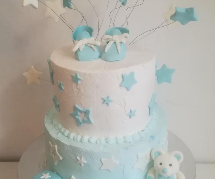 tarta bautizo niño osos