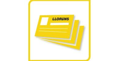 La importancia de una tarjeta de visita. Si hubiera venido a LLOReNS, le regalariamos 100 ud GRATIS