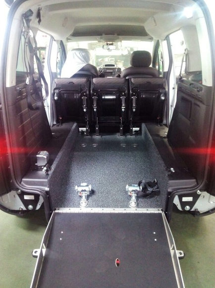 Rebaje de piso realizado en una Peugeot Partner.  Cabal Automocion