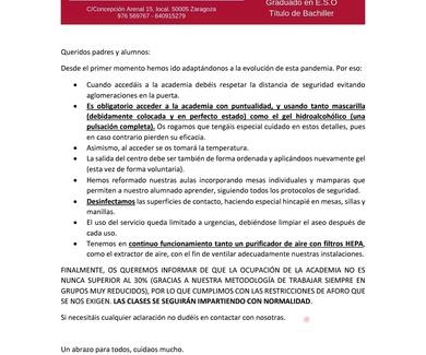 PROTOCOLO DE SEGURIDAD - MEDIDAS