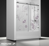Mampara de baño Profiltek serie Steel modelo ST-110 Classic decoración clasik