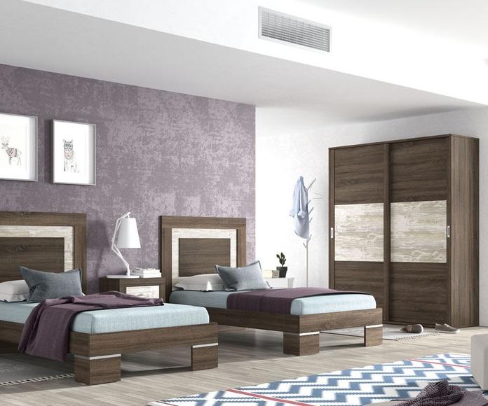 Dormitorio con dos camas de 90 ó de 105