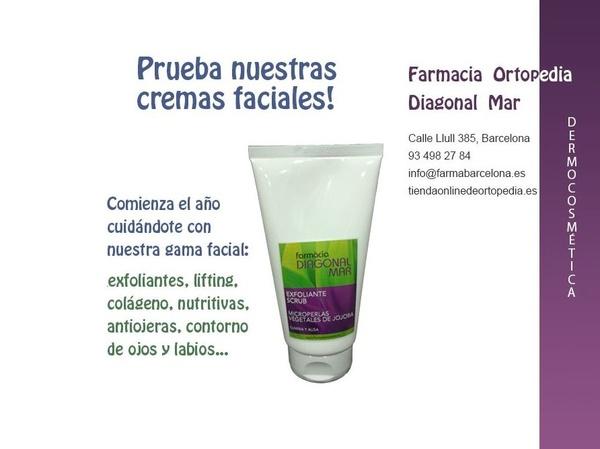 Gama propia de cremas faciales