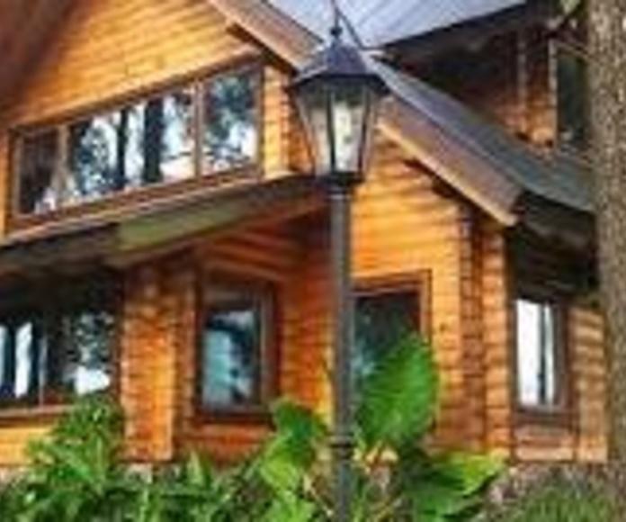 Casa madera con Bondex Classic