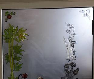 Vidrio decoración grabada