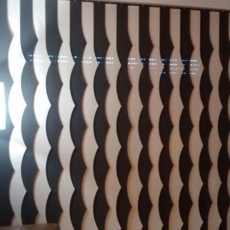 Cortinas de lamas verticales con formas: Productos y servicios de Decoración Hogar Nou Centre