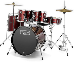Set bateria pequeña Mapex Tornado Junior Kit Dark Red