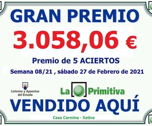 Loterías y apuestas en Xàtiva | Casa Carmina