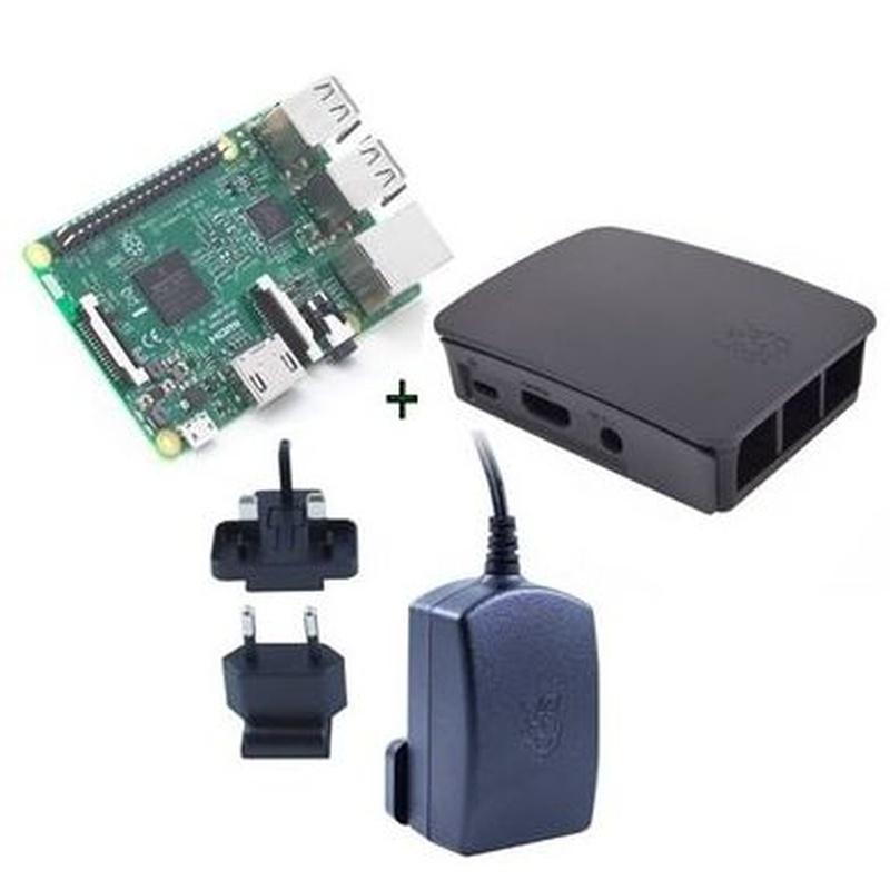 Raspberry kit Pi 3+ caja negra+ fuente 5.1V negra : Productos y Servicios de Stylepc