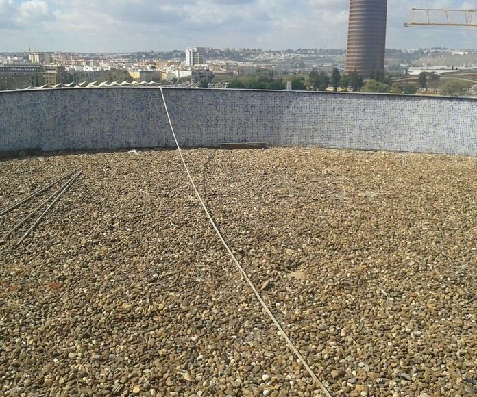 Ejecución de solarium en terraza NH PLAZA DE ARMAS
