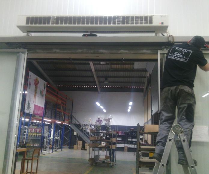 Reparación de puerta de cristal corredera automática