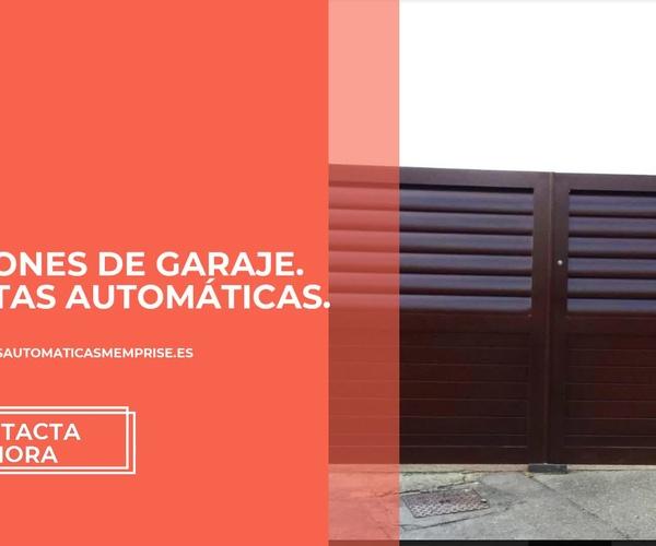 Portones de garaje en Oviedo   Memprise