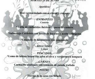 MENU DIA DE REYES: Carta de Asador Tinto