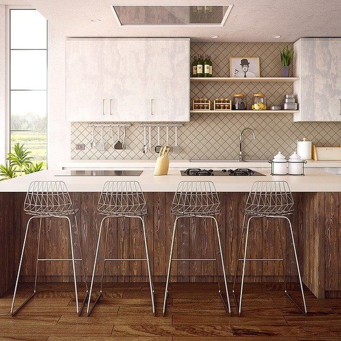 Las grandes bondades de los muebles altos para la cocina