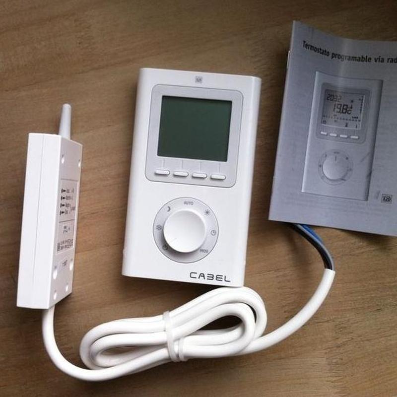 CRONOTERMOSTATO VIA RADIO CABEL: Productos de Instalaciones Hermanos Munuera