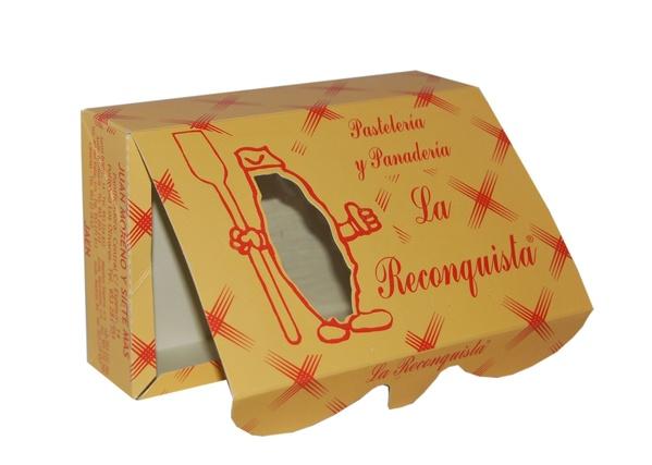 Caja 4 puntos con ventana de plástico Pastelería La Reconquista