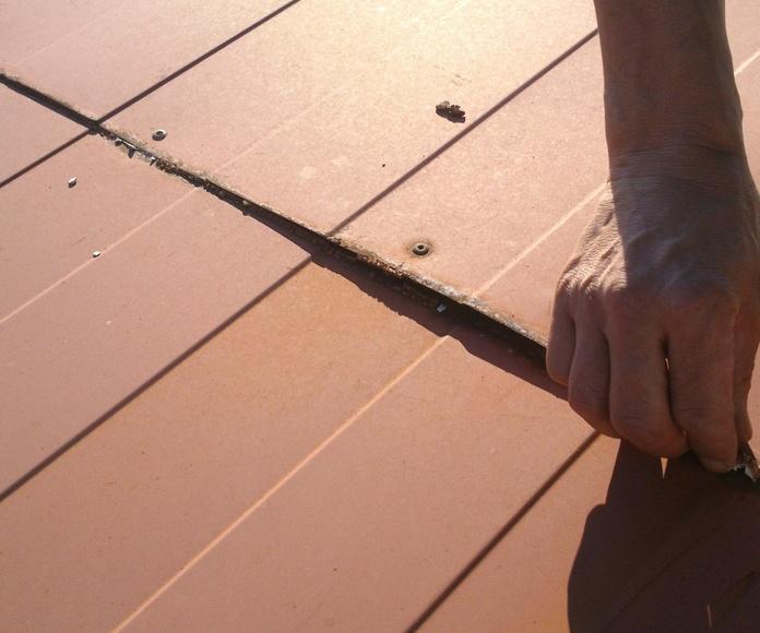 Problema de cubierta metálica en Vigo