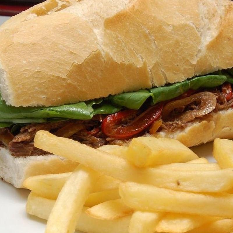 Bocadillos: Carta de Restaurante Cabañeros