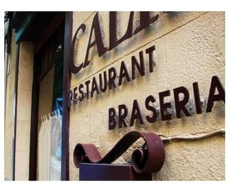 Acompañamientos: La carta de Restaurant Brasería El Caliu