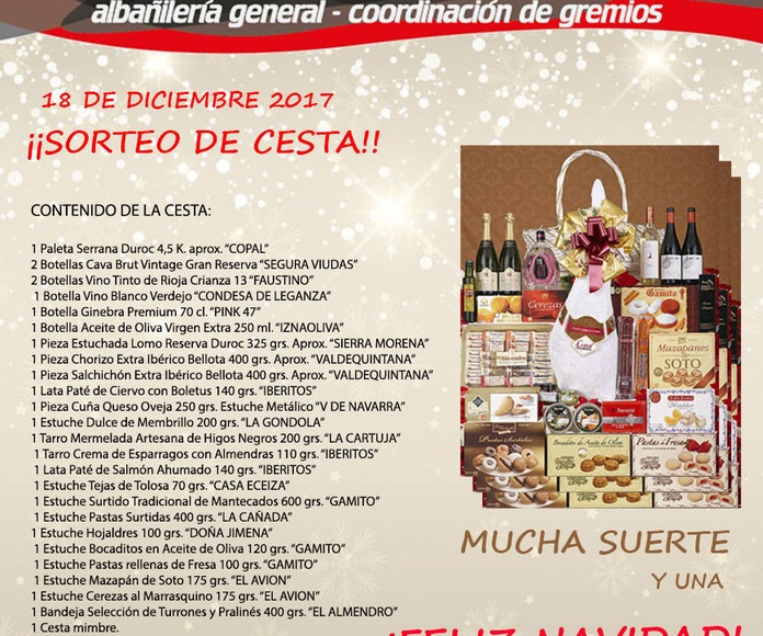 SORTEO DE CESTAS DE NAVIDAD 2.017